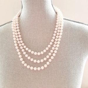 Luxurious Long Endless Pearl Necklace